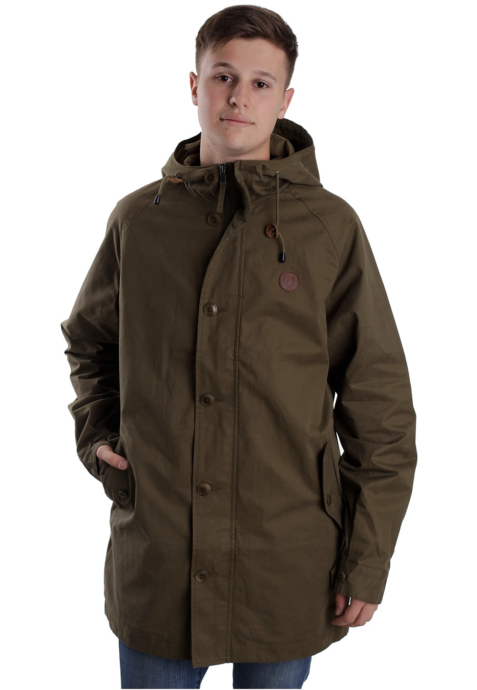 fred perry fishtale parka dark olive veste boutique. Black Bedroom Furniture Sets. Home Design Ideas