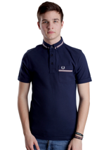 Fred Perry - Grosgrain Tape Dark Carbon - Polo