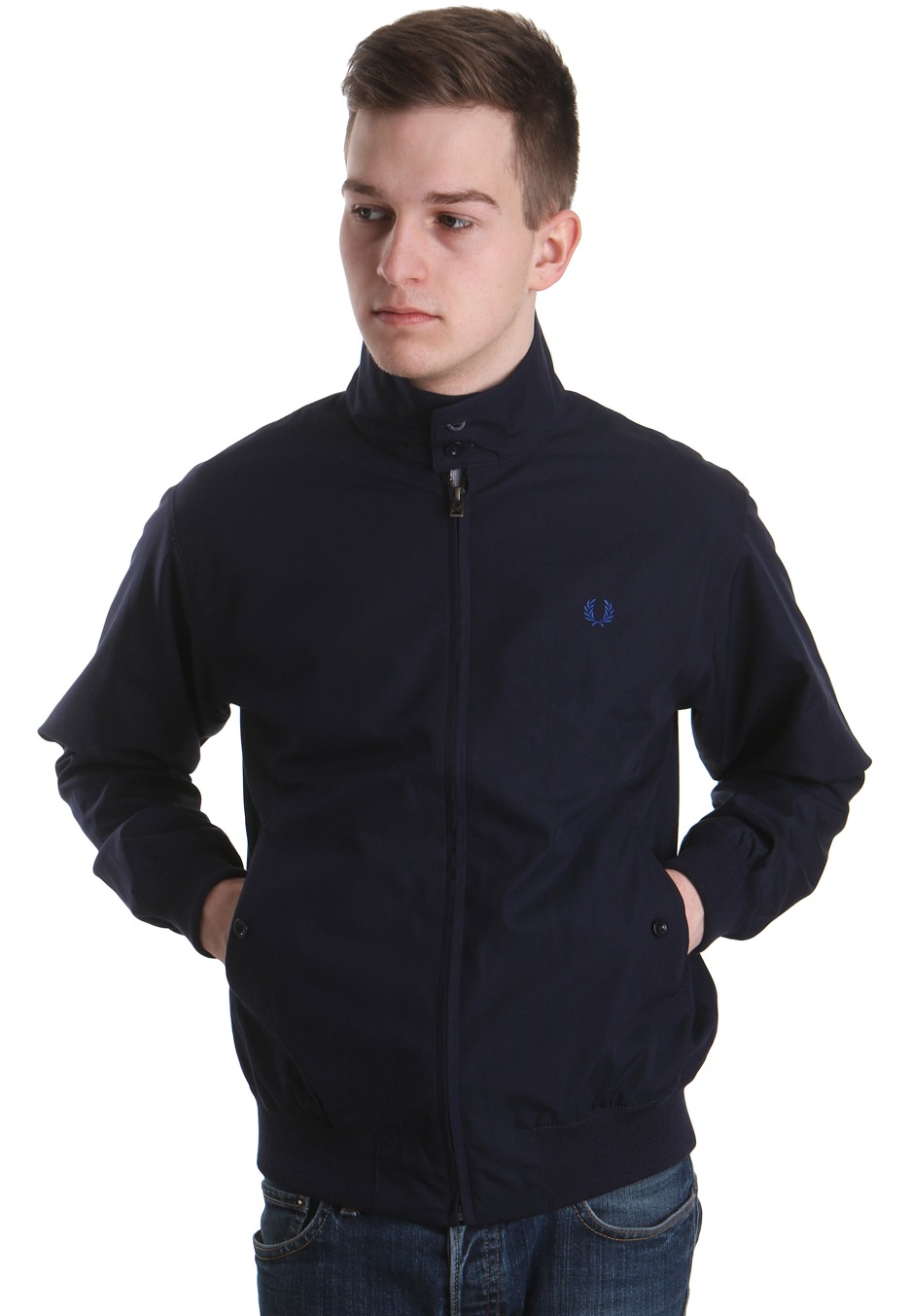 fred perry harrington navy jacket streetwear shop worldwide. Black Bedroom Furniture Sets. Home Design Ideas