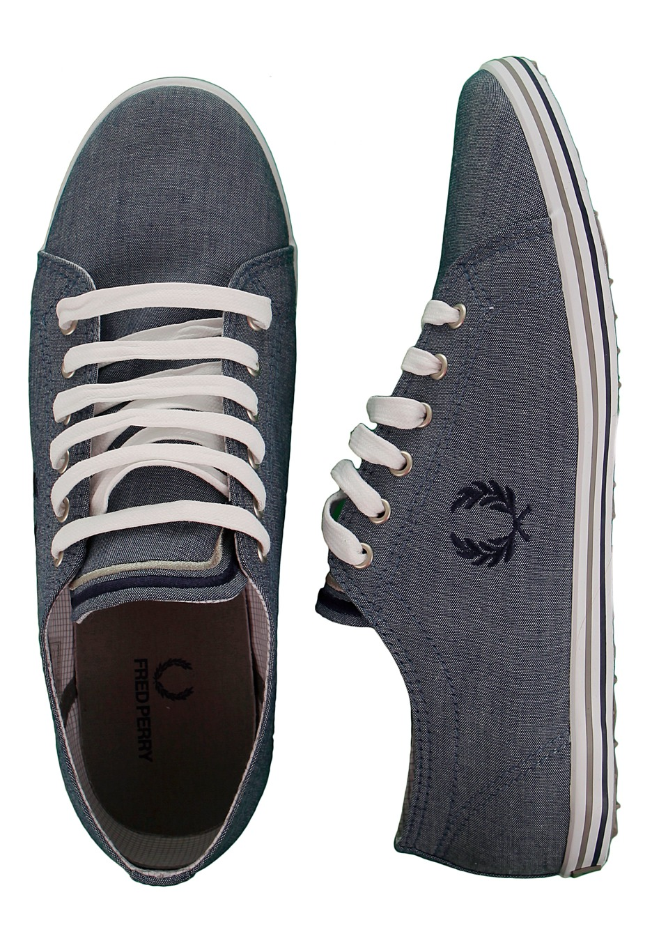 fred perry kingston navy chambray chaussures fr. Black Bedroom Furniture Sets. Home Design Ideas