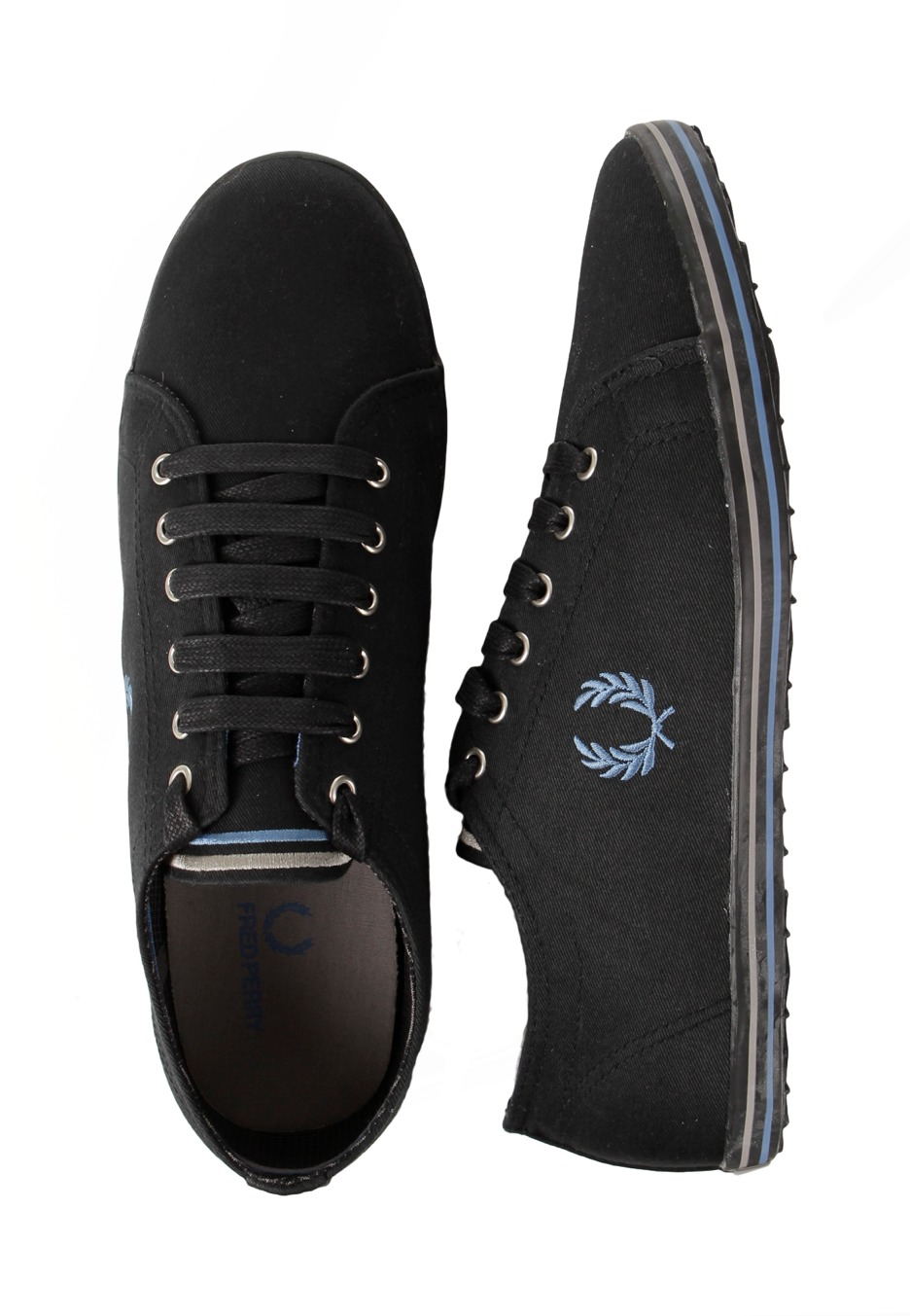 fred perry kingston twill tipped schoenen impericon. Black Bedroom Furniture Sets. Home Design Ideas