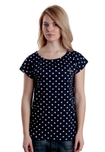 Fred Perry - Polka Dot Print Carbon Blue - Girly