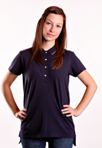 Fred Perry - Relaxed Fit Dark Carbon Marl - Girl Polo