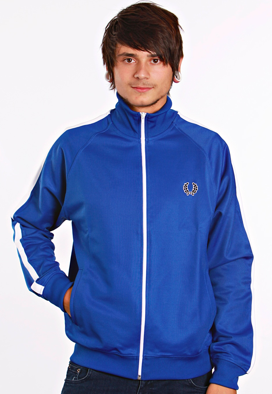 fred perry single tape track olympian jacket streetwear shop. Black Bedroom Furniture Sets. Home Design Ideas
