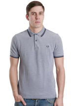 Fred Perry - Slim Fit Twin Tipped Indigo Oxford - Polo