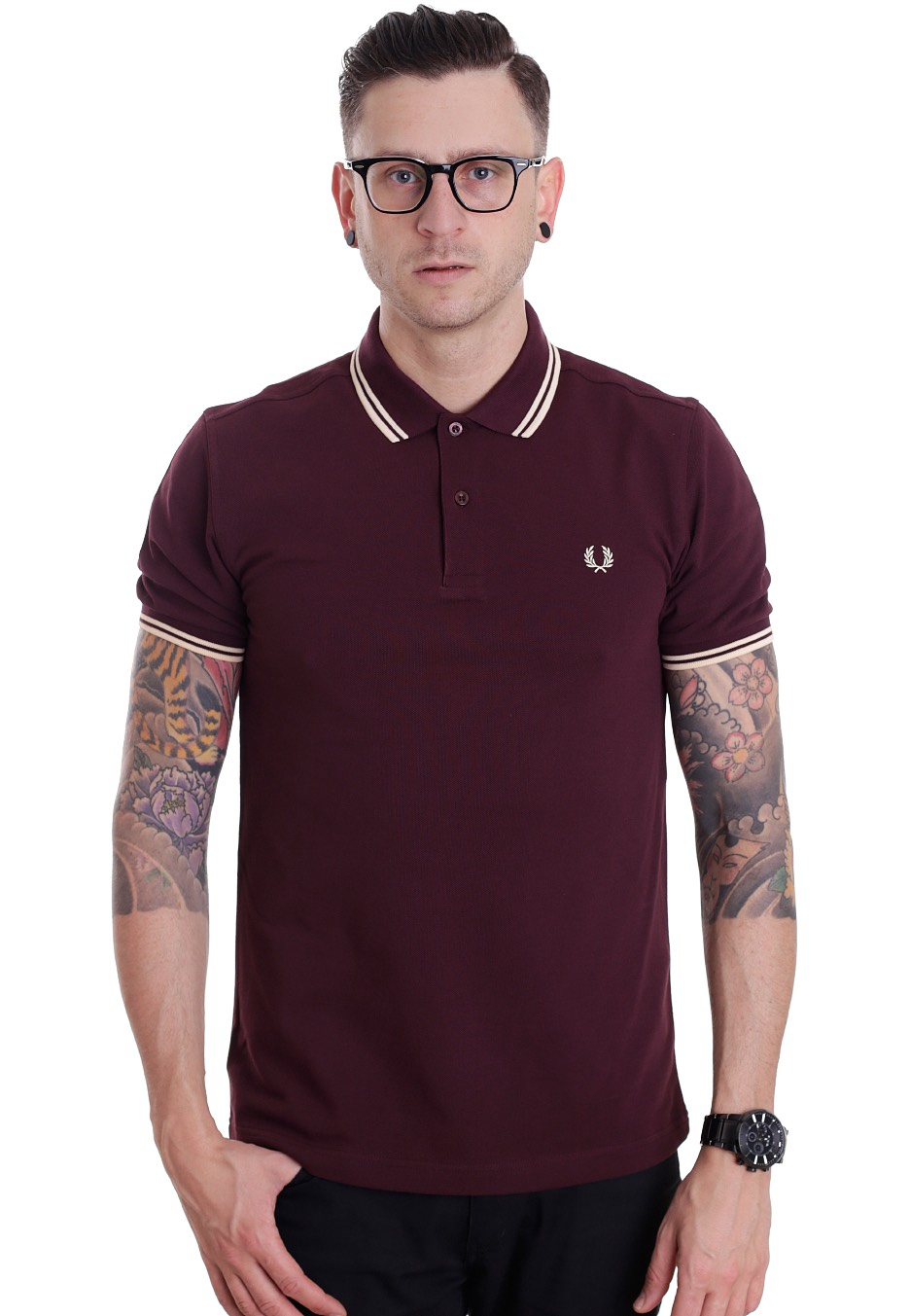 fred perry slim fit twin tipped mahogany vanilla custard. Black Bedroom Furniture Sets. Home Design Ideas