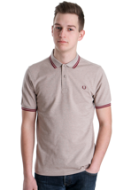 Fred Perry - Slim Fit Twin Tipped Walnut Marl - Polo