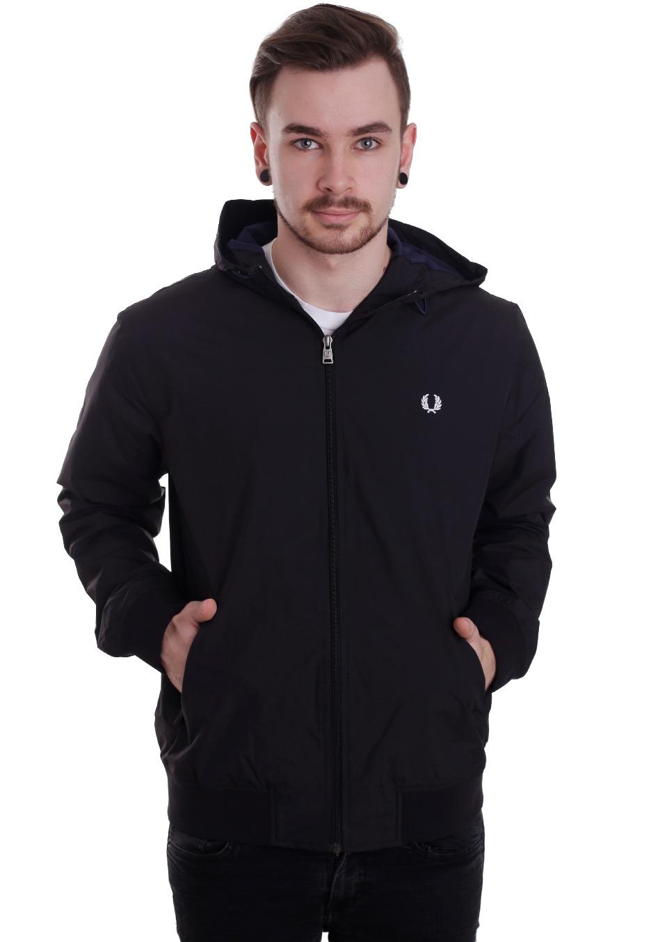 fred perry summer hooded brentham jacket streetwear shop. Black Bedroom Furniture Sets. Home Design Ideas