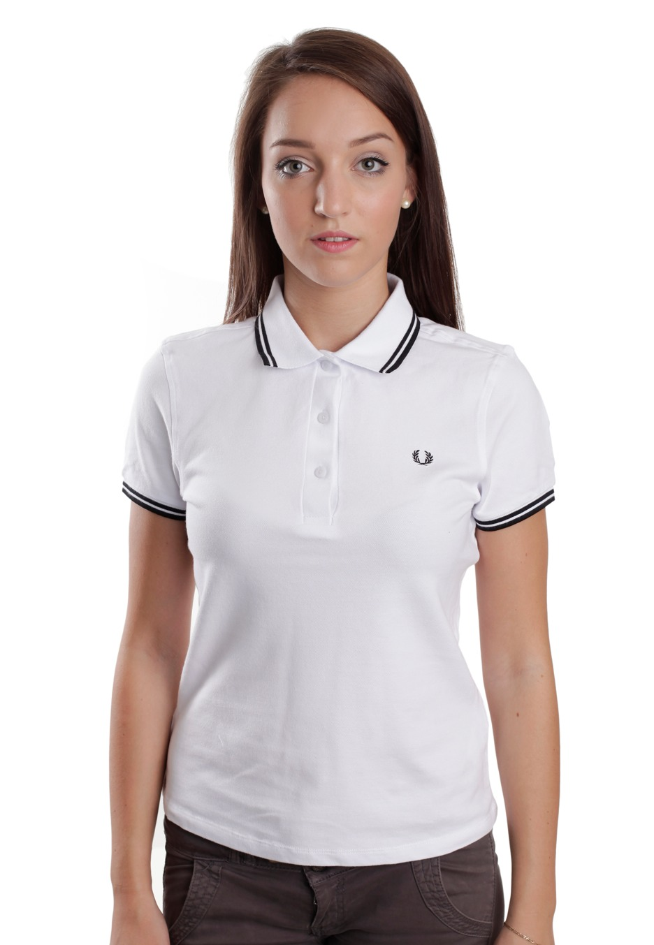 fred perry twin tipped white black polo streetwear shop worldwide. Black Bedroom Furniture Sets. Home Design Ideas