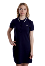 Fred Perry - Twin Tipped Pique Carbon Blue - Girl Dress