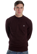 Fred Perry - Vintage Marl Vintage Port Marl - Sweater