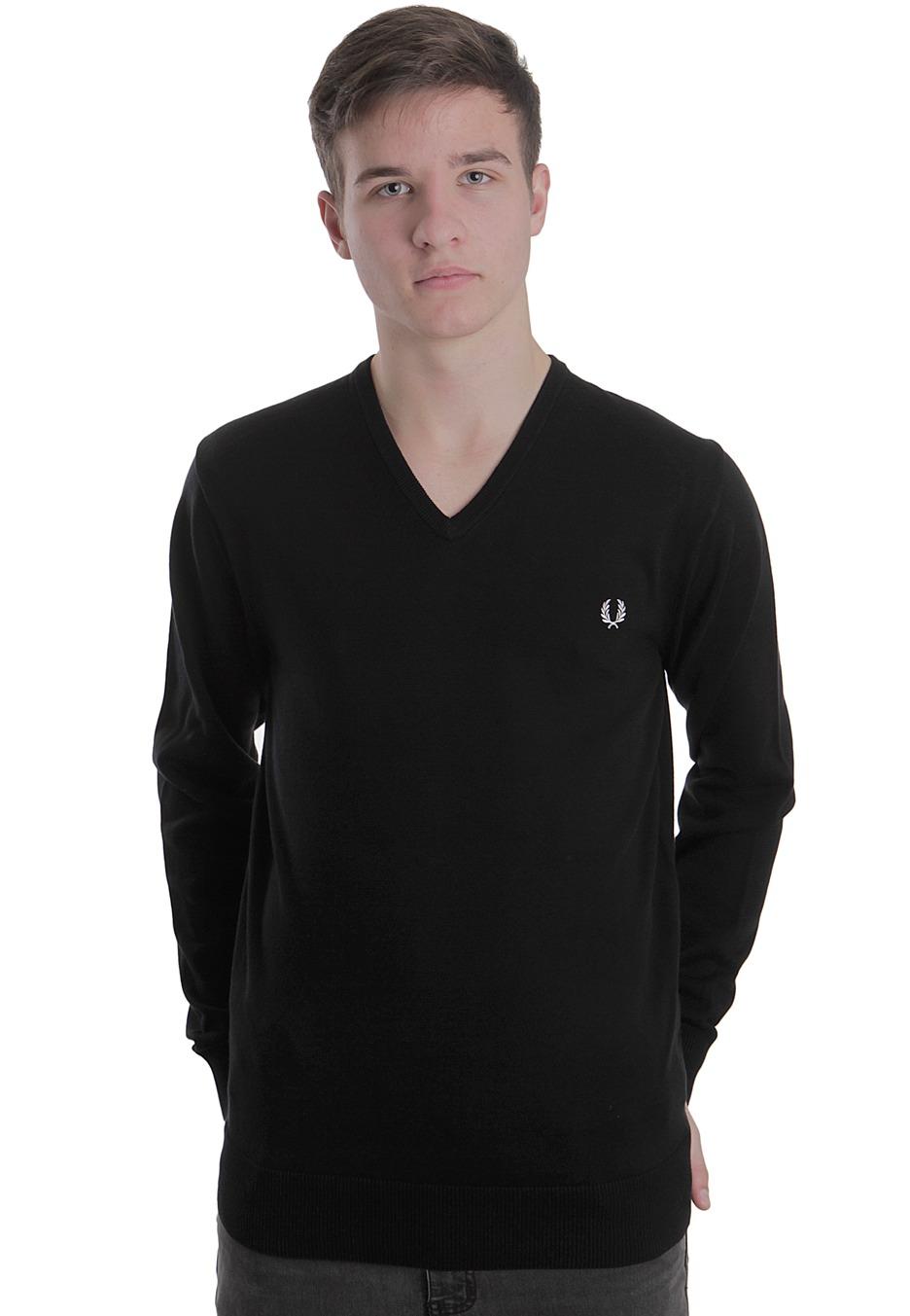 fred perry v neck pullover streetwear shop worldwide. Black Bedroom Furniture Sets. Home Design Ideas
