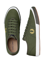 Fred Perry - Woodford Canvas 1964 Olive/Canary Yellow/Iris Leaf - Shoes