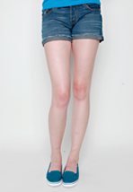 Glamour Kills - Linny Denim Midnight Blue - Girl Shorts