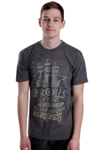 Glamour Kills - Never Give Up The Ship Twisted Black - T-Shirt