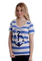 Glamour Kills - The Union Blue/Heather White/Vivian Stripe - Girly