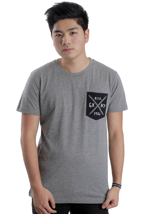 Glamour Kills - Traditional Pocket Heather Grey - T-Shirt