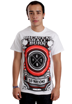 Heaven Shall Burn - 53 Nations White - T-Shirt