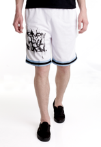 Heaven Shall Burn - Stacked Logo Blue Striped White - Shorts