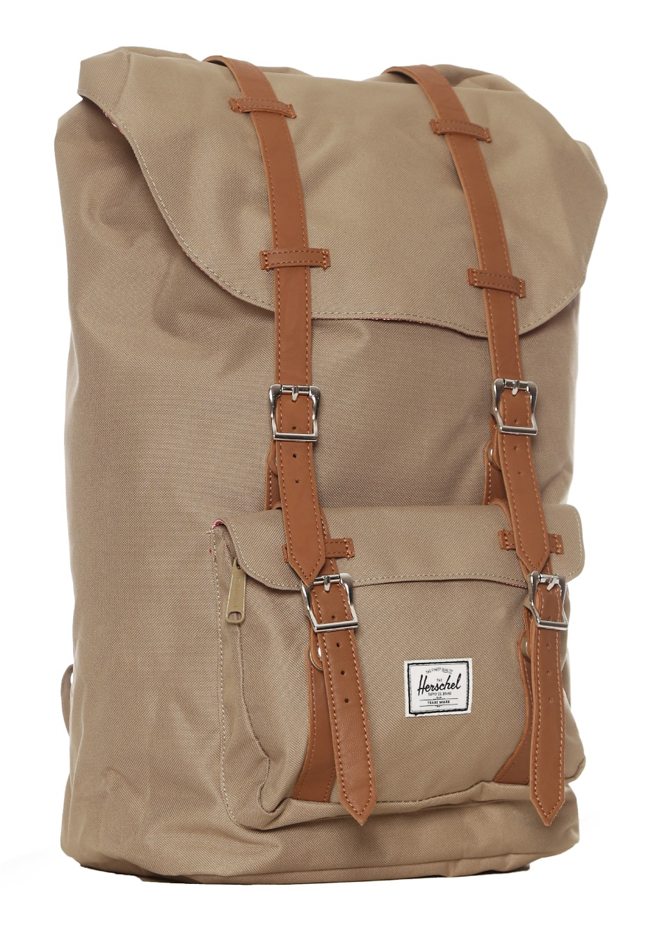 herschel little america brindle tan synthetic leather backpack streetwear shop impericon. Black Bedroom Furniture Sets. Home Design Ideas