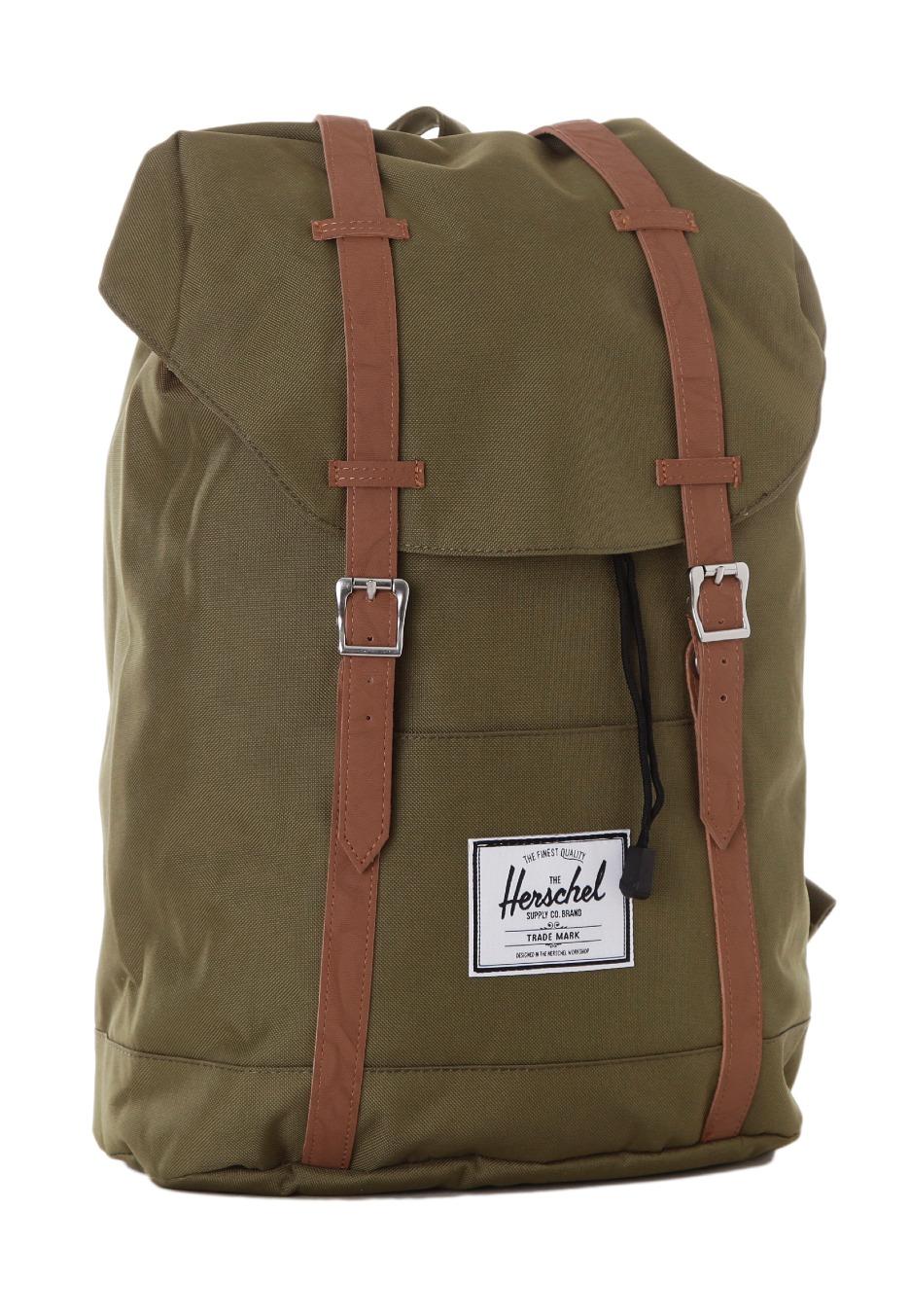herschel retreat army backpack streetwear shop uk. Black Bedroom Furniture Sets. Home Design Ideas