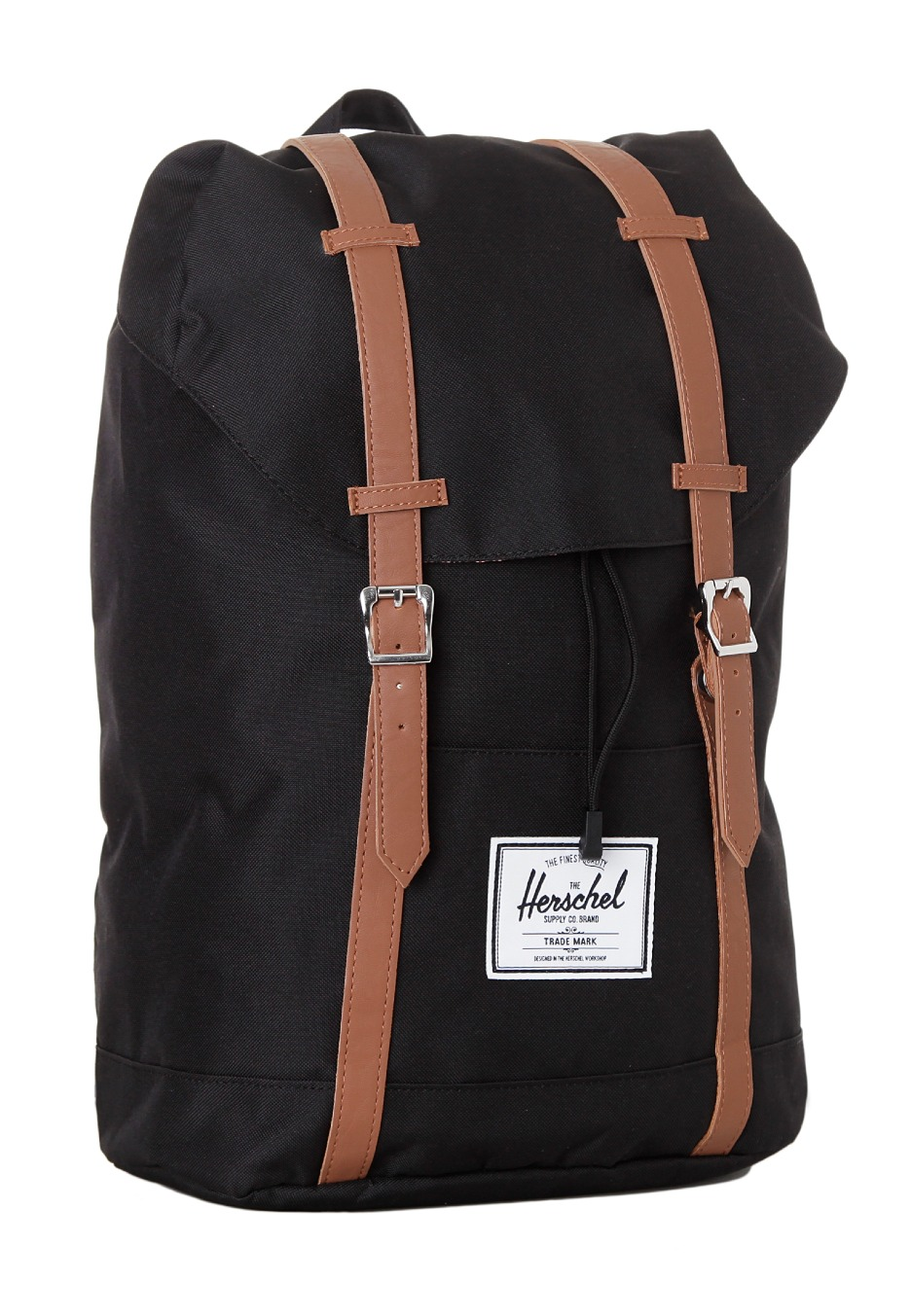 herschel retreat black tan synthetic leather backpack streetwear shop uk. Black Bedroom Furniture Sets. Home Design Ideas