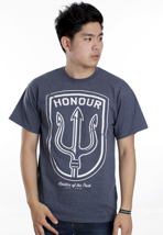 Honour Over Glory - Honour Shield Heather Blue - T-Shirt