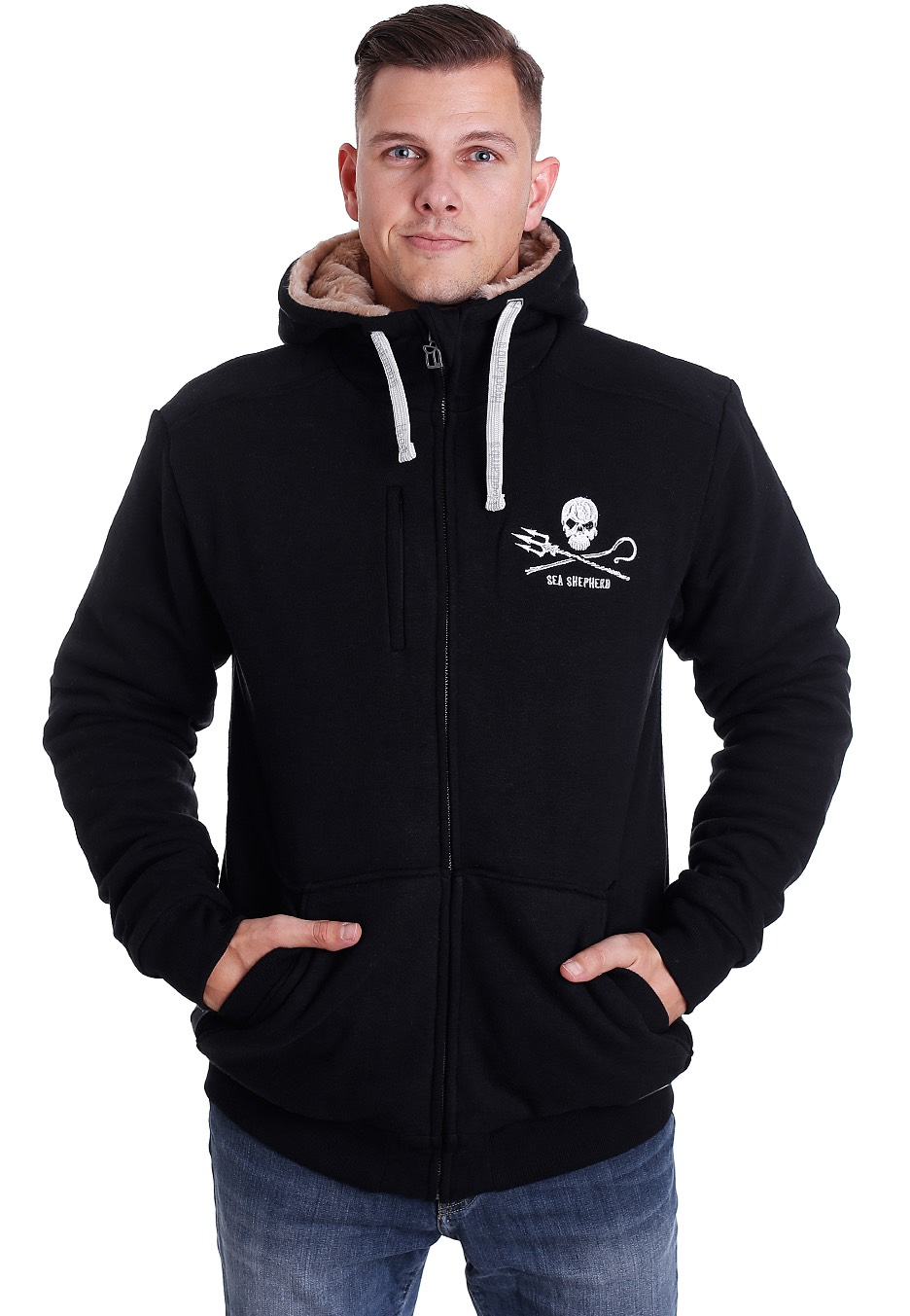 hoodlamb x sea shepherd furry jacke streetwear shop. Black Bedroom Furniture Sets. Home Design Ideas