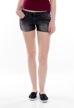 Hurley - 81 Skinny Cut Off Denim Black Granite - Girl Shorts