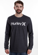 Hurley - One & Only Heather Black - Longsleeve