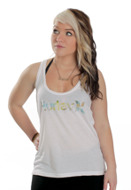 Hurley - One And Solo Perfect White - Girl Tank