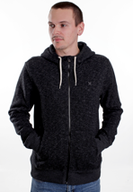 Hurley - Retreat Heather Black - Zipper