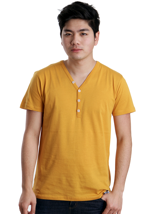 Iriedaily - Clerk 2 Gold Yellow - V Neck T-Shirt