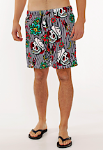 Iron Fist - Filthy Landlubber White/Navy - Board Shorts