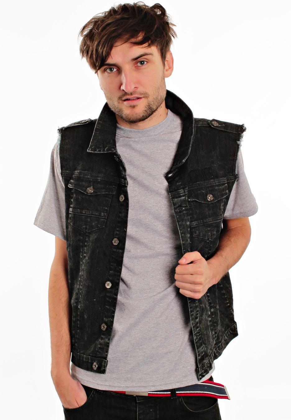 black vest and jeans - photo #45