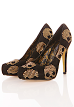 Iron Fist - Gold Star Pointed Black/Gold - Heels