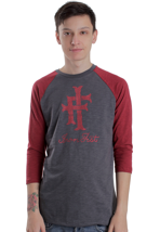 Iron Fist - Heritage Logo Dark Red/Charcoal - Longsleeve