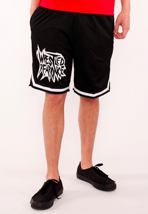 Iwrestledabearonce - New Logo Striped - Shorts