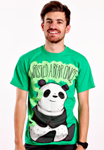 Iwrestledabearonce - Panda Irish Green - T-Shirt