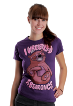 Iwrestledabearonce - Resting Bear Purple - Girly