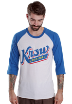 Kr3w - Shortstopp White/Royal - Longsleeve