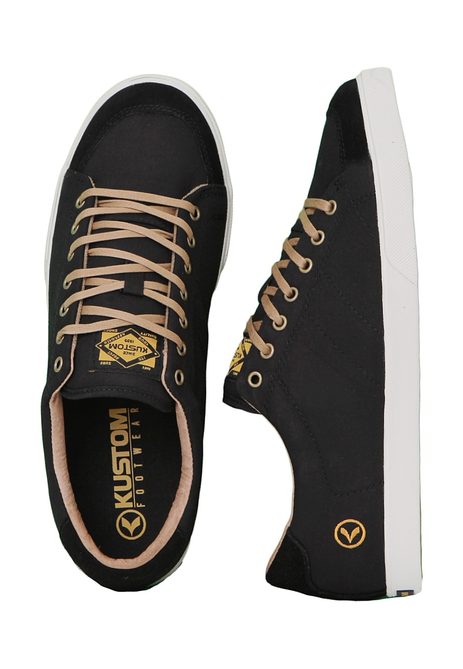 kustom kramer alumni black gold shoes impericon