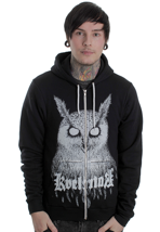 Kvelertak - Owl Black/White - Zipper