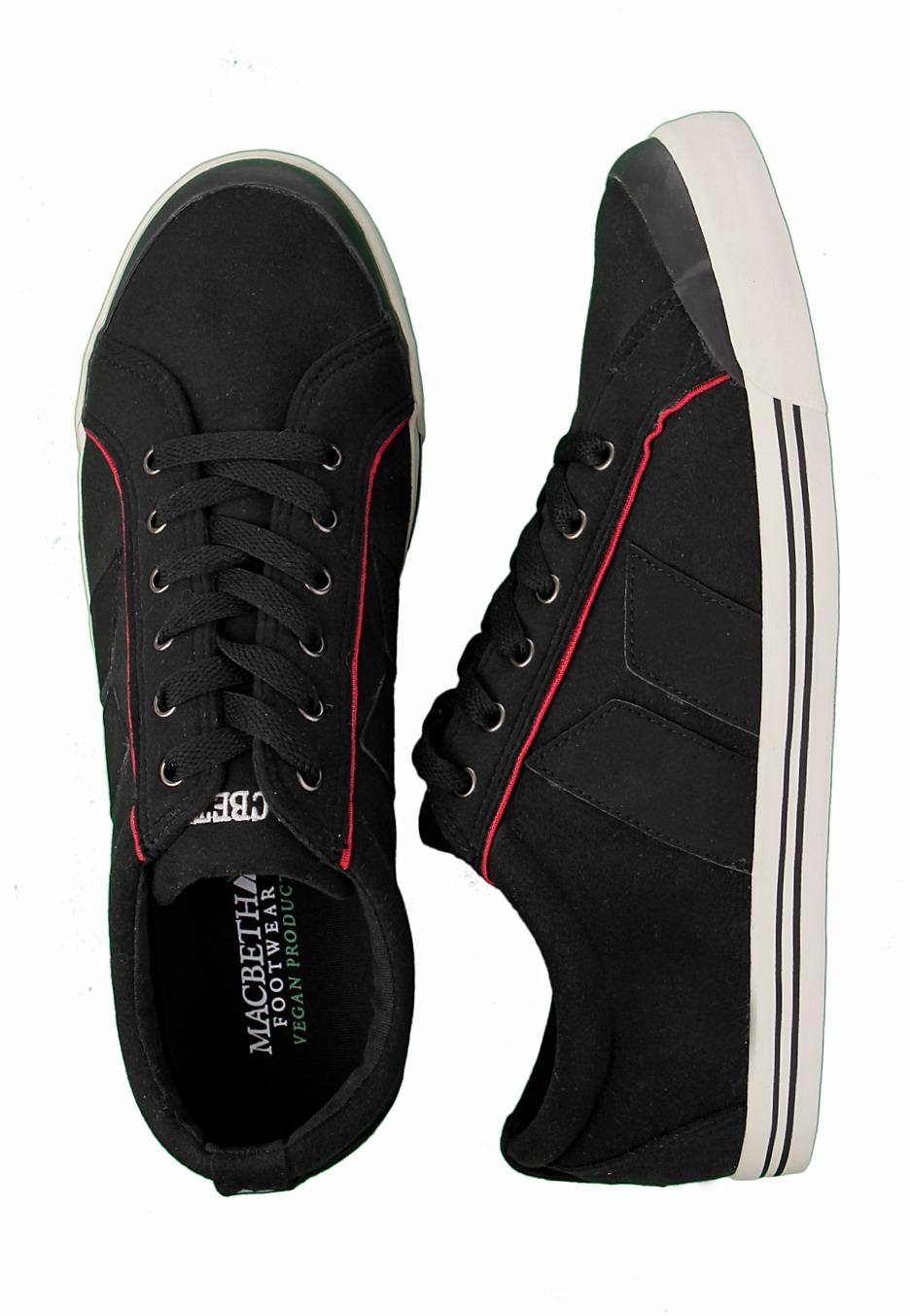 Macbeth - Eliot Premium Black/Cement/Red Synthetic Suede ...