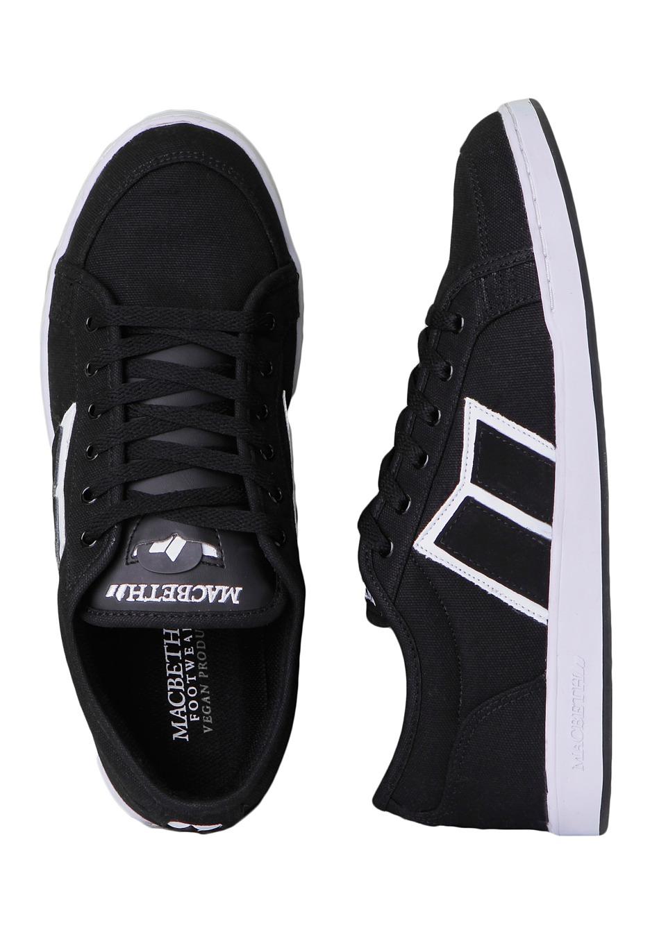 macbeth emerson black white shoes impericon