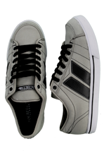 Macbeth - Manchester Medium Grey/Black Classic Canvas - Shoes