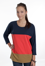 Mazine - Aus Navy/Poppy - Girl Sweater