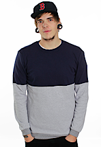 Mazine - Charlie Ink Blue/Light Grey Melange - Sweater
