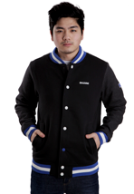 Mazine - Crew Black Melange - College Jacket