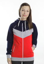 Mazine - Smileyo Navy/Poppy - Girl Zipper